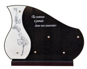 107 vase 35x25 noir fin et céramique - granit ép.1cm et doublure 1 cm céramique
