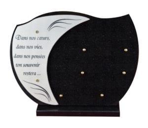 207 30x40 noir fin et céramique - granit ép.1cm et doublure céramique