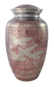30759 rouge - Urne laiton capacité 4 litres