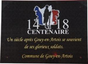 Plaque commémorative 14.18 - gravure personnalisée sur plaque 30x40