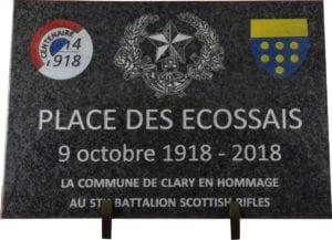 Plaque commémorative - gravure personnalisée sur plaque 30x40