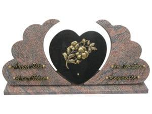 31O 60x26, dimension du coeur : 20x20 - Toutes dimensions et granits sur demande