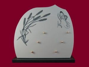 609 Céramique 33x32 - Sur base granit noir fin