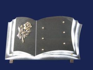 livre n° 86 - Dimension 40x25 Toutes couleurs de granit. Sur équerres ou sur base