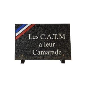 CATM à leur Camarade et drapeau
